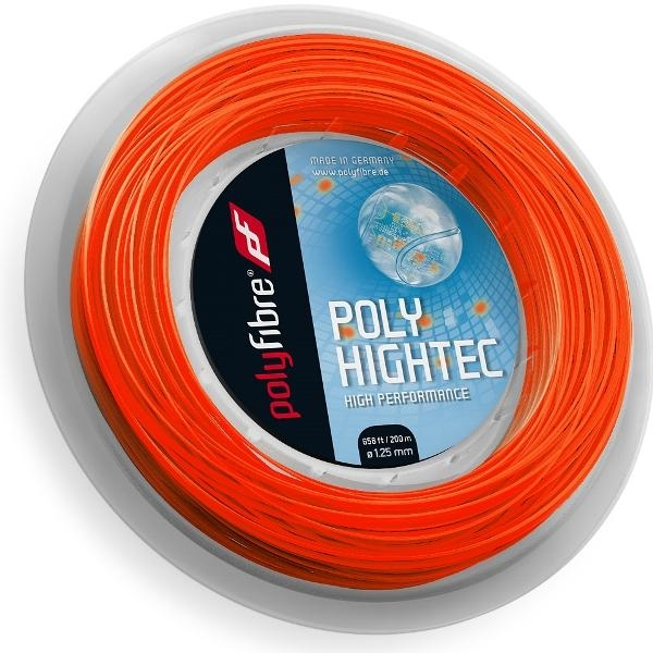 Polyfibre Poly Hightec Neonred 200 m. tennissnaar