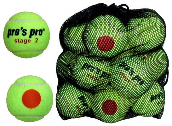 Pro's Pro Stage 2 tennisbal junior 12 stuks ITF approved