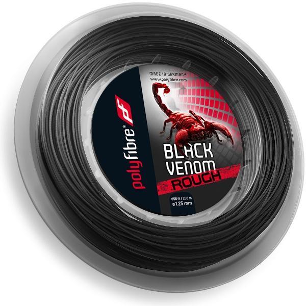 Polyfibre Black Venom 1,25 mm rough 200 m. tennissnaar