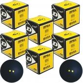 Dunlop 6 x Squashbal dubbel geel