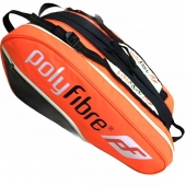 Polyfibre 3 vaks Racketbag Oranje tennistas