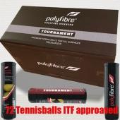 Polyfibre Tournament Tennisballen 72 stuks gasgevuld ITF approaved