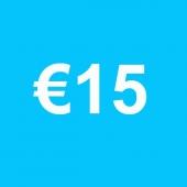 Powertennis Waardebon 15 euro
