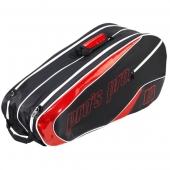 Pro's Pro 8-Racketbag zwart-rood L112