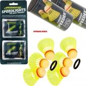 Speedminton® 6 Nightspeeders + 8 Speedlights Speedbadminton