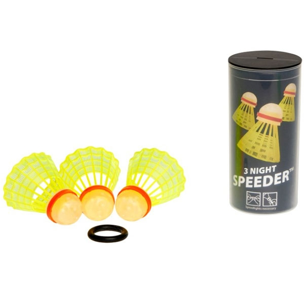 Speedminton® Tube NIGHT Speeder Speedbadminton 3 stuks