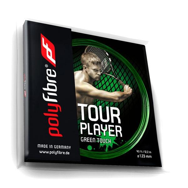 Polyfibre Tour Player Green Touch 1.23 tennissnaar 12 m.
