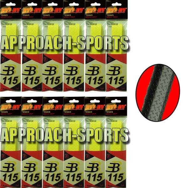 Pro's Pro Basic Grip B115 Neon-Geel 12 stuks
