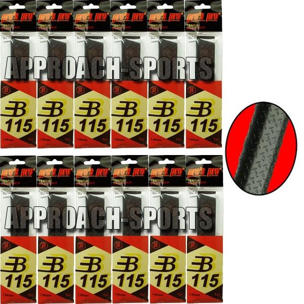 Pro's Pro Basic Grip B115 Zwart 12 stuks
