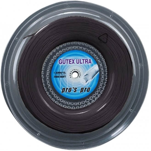 Pro's Pro Gutex Ultra 1.30 Zwarte tennissnaar 200 m.