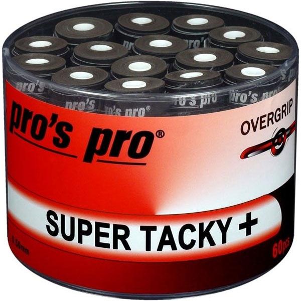 Pro's Pro Super Tacky Plus overgrip 60 stuks zwart
