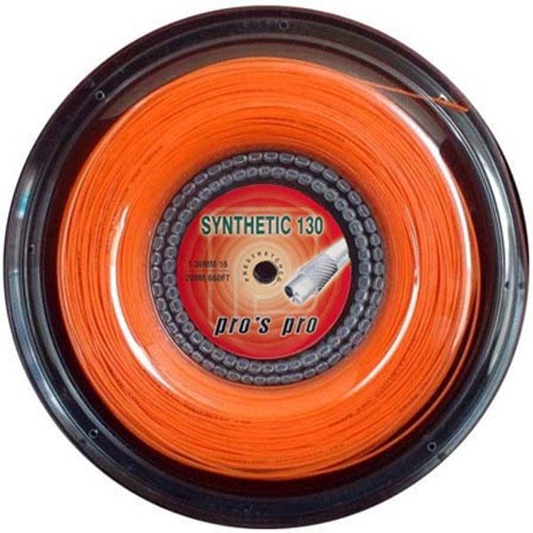 Pro's Pro Synthetic 1,30 mm. Oranje 200 m. tennissnaar