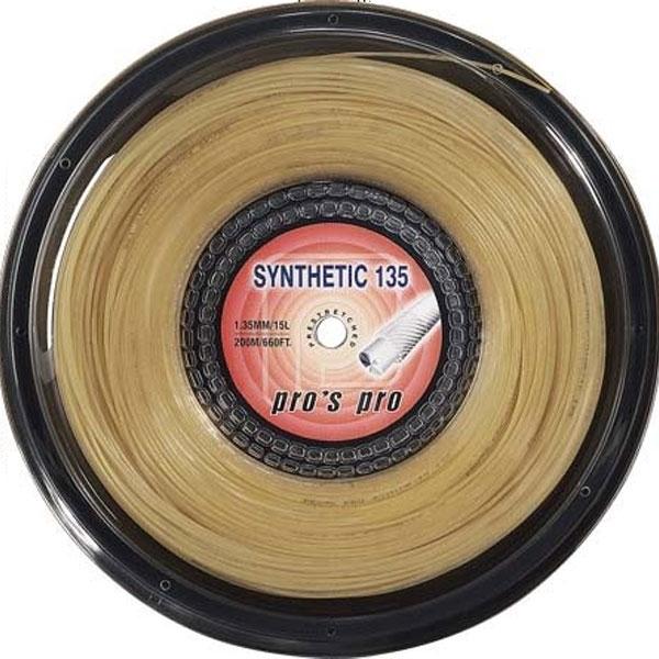 Pro's Pro Synthetic 1,35 mm. Amber 200 m. tennissnaar