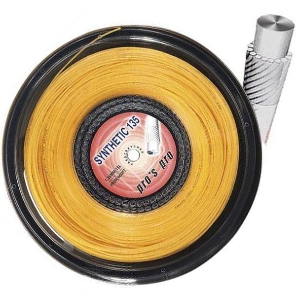 Pro's Pro Synthetic 1,35 mm. Gold 200 m. tennissnaar
