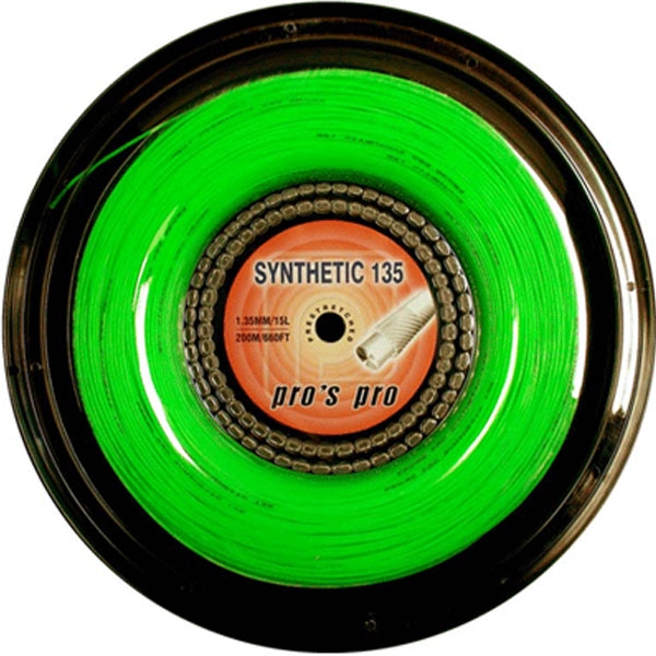 Pro's Pro Synthetic 1,35 mm. Groen 200 m. tennissnaar