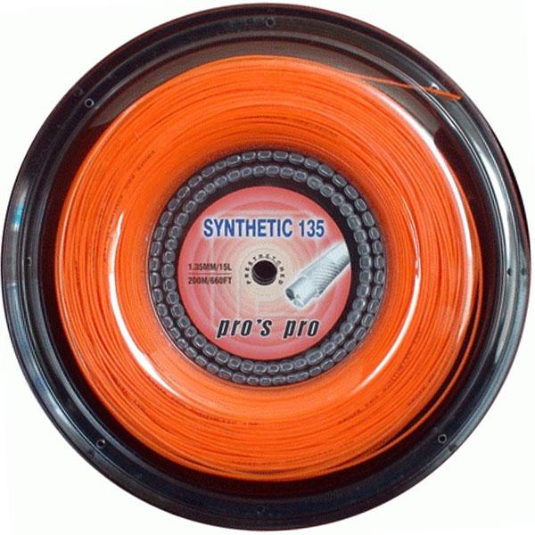 Pro's Pro Synthetic 1,35 mm. Oranje 200 m. tennissnaar