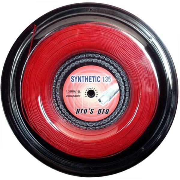 Pro's Pro Synthetic 1,35 mm. Rood 200 m. tennissnaar
