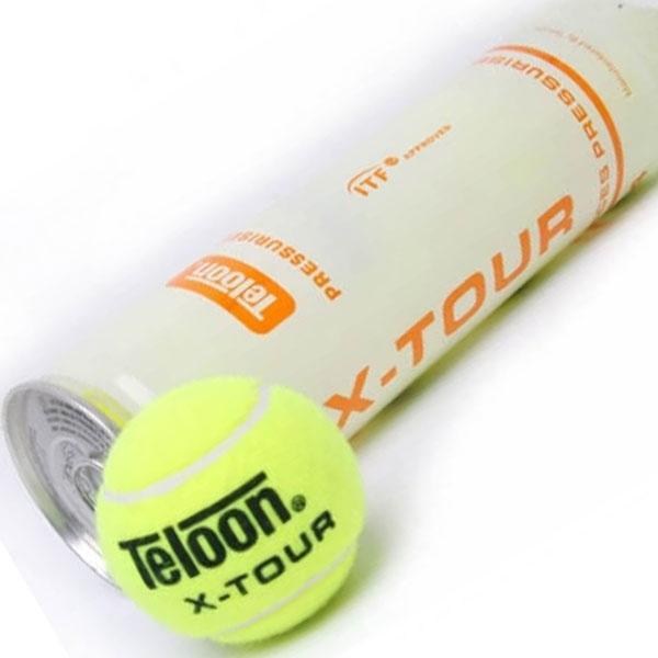 Pro's Pro Teloon X-Tour 4-pet ITF Tennisbälle
