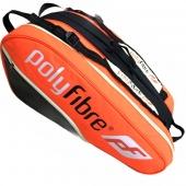 Polyfibre 12-Racketbag Orange 3 Haubtfacher