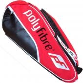 Polyfibre 12-Racketbag rot 3 Haubtfacher