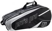 Pro's Pro 12-Racketbag schwarz/silber L111 Tennistasche