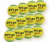 Pro's Pro Junior 12er gelb-grün Tennisbälle