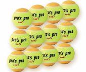 Pro's Pro Soft Tennisbälle 12er gelb-orange