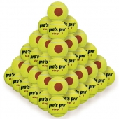 Pro's Pro Stage 2 Tennisbälle 60er gelb mit orangem Punkt