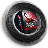 Polyfibre Black Venom 1,25 mm rough 200 m. tennissnaar
