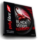 Polyfibre Black Venom 1,25 mm rough 12 m. Tennissaite