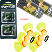 Speedminton® 6 Nightspeeders + 8 Speedlights Speedbadminton