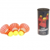 Speedminton® Tube FUN Speeders 3er Speedbadminton