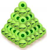 Pro's Pro Stage 1 60er Tennisbälle gelb mit grünem Punkt