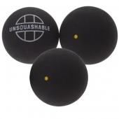 Unsquashable 3er Squashbälle gelb