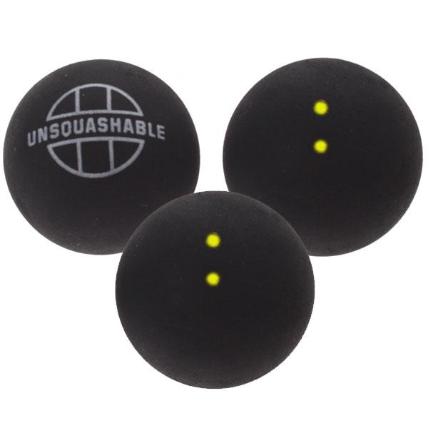 Unsquashable 3er Squashbälle doppelt gelb